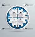 Abstract gears infographic Design element vector image vector image