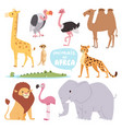 africa animals large outdoor graphic travel desert vector image