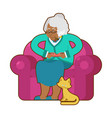 african american grandmother and joystick black vector image vector image