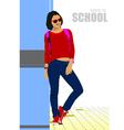 al 0501 back to school vector image vector image