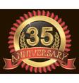 Anniversary heraldry ribbon vector image vector image