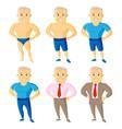 athletic old men set cartoon character vector image vector image