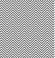 Black and white seamless zig zag line pattern vector image vector image
