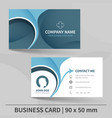 blue creative business card template vector image vector image
