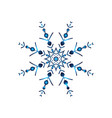 blue neon snowflakes winter snowflakes hologram vector image vector image