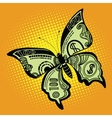 Butterfly dollar bill vector image vector image