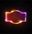 color neon banner on black brick wall background vector image vector image