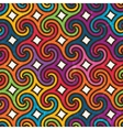 Colorful geometric pattern with spirals vector image vector image
