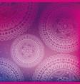 colors mandala decoration background vector image