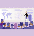 conference or presentation public speaking vector image vector image