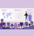 conference or presentation public speaking vector image