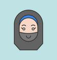 cute muslim woman avatar vector image vector image