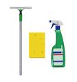 Detergentssponge and scraper vector image
