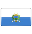 Flags San Marino in the form of a magnet on vector image vector image