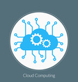 flat design concept for cloud computing vector image