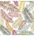 floral fall pattern tropical palm leaves seamless vector image vector image