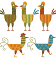 Funny hens set vector image vector image