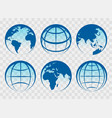 globe blue earth icons vector image