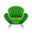 green armchair on white background vector image vector image