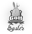 happy easter golf ball in form a egg vector image vector image