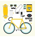 Hipster mast have objects vector image