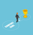 isometric businessmen come out of the comfort vector image vector image