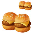 kids burgers sliders isolated on white background vector image