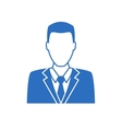 man in business suit icon vector image