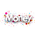 Money paper card vector image vector image