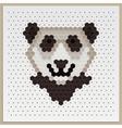 Mosaic Panda vector image vector image