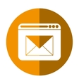 page web email message communication yellow circle vector image