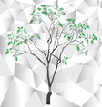 polygon tree background vector image vector image