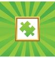 Puzzle picture icon vector image