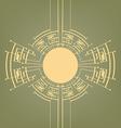 Retro Art Deco stylized background vector image vector image