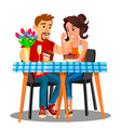 romantic dinner for a young married couple at home vector image