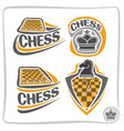 set icons for chess game vector image