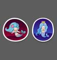 set of beautiful little mermaids vector image