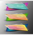 set of colourfull transparent banners vector image