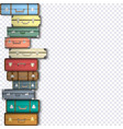 set of suitcases on transparent background vector image