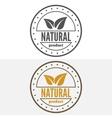 Set of vintage logo label badge logotype vector image vector image