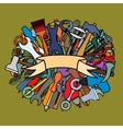 Set of working tools vector image
