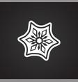 snowflake on black background vector image