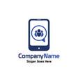 social mobile logo vector image
