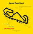 speed raven circuit vector image vector image