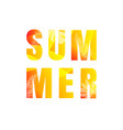 summer text isolated white background vector image vector image