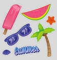 summer time set sticker vector image vector image