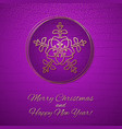 this is a purple and gold christmas card vector image