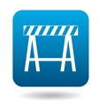 Traffic barrier icon in simple style vector image