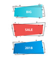 trendy promotion business bannersstickers vector image vector image
