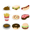 various food cafe set vector image
